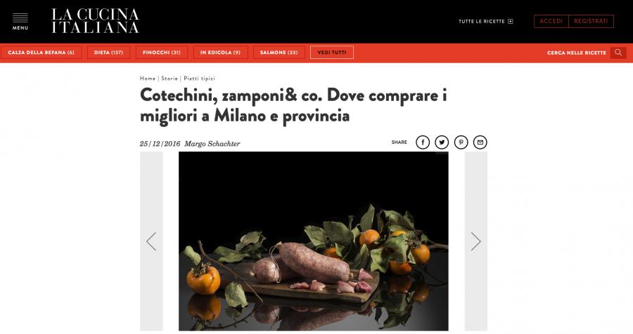 Cotechini, zamponi& co. Dove comprare i migliori a Milano e provincia